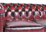 Chesterfield Original 5-places Antique Rouge | Garantie de 12 ans_