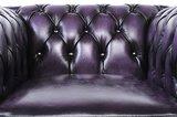 Chesterfield Origine Fauteuil Antique Violet | Garantie de 12 ans_
