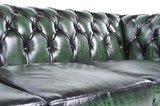 Chesterfield Original Fauteuil Antique Vert | Garantie de 12 ans_