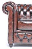 Chesterfield Original Fauteuil Antique Brun   Garantie de 12 ans_