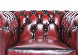 Chesterfield Original Fauteuil Antique Rouge | Garantie de 12 ans_