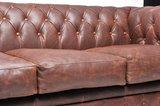 Chesterfield Vintage 5-sièges Mocha | Garantie de 12 ans_