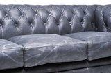 Chesterfield Vintage 5-sièges Noir   Garantie de 12 ans_