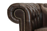Chesterfield Canapé First Class 2-places Cloudy Brun Dark | Garantie de 12 ans_