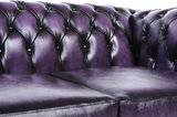 Chesterfield Canapé Original Cuir | 1 + 2 places | Antique Violet | Garantie de 12 ans_
