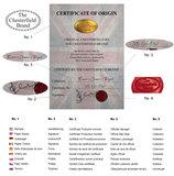 Chesterfield Canapé Original Cuir | 2 + 3 places | Antique Rouge | Garantie de 12 ans_