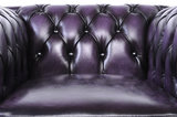 Chesterfield Canapé Original Cuir | 1 + 1 + 3 places | Antique Violet | Garantie de 12 ans_