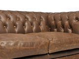 Chesterfield Canapé Vintage Cuir | 1 + 2 + 3 places | Alabama C1059| Garantie de 12 ans_