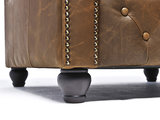 Chesterfield Canapé Vintage Cuir | 1 + 1 + 3 places | Alabama C1059| Garantie de 12 ans_