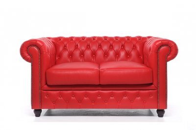 Chesterfield Origine 2-Places Canapé Rouge | Garantie de 12 ans