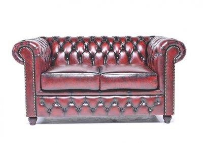Chesterfield Original 2-Places Canapé Antique Rouge | Garantie de 12 ans