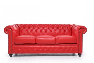 Chesterfield Origine 3-sièges Rouge | Garantie de 12 ans