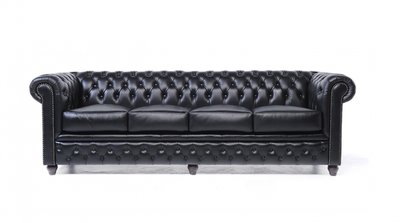 Chesterfield Original 4-places Noir | Garantie de 12 ans