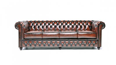 Chesterfield Original 4-places Antique Brun | Garantie de 12 ans
