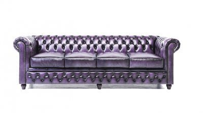 Chesterfield Original 4-places Antique Violet | Garantie de 12 ans
