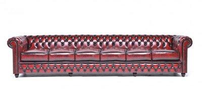 Chesterfield Original 6-places Antique Rouge | Garantie de 12 ans