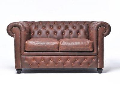 Chesterfield Vintage 2-sièges Brun | Garantie de 12 ans