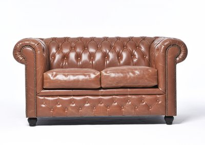 Chesterfield Vintage 2-sièges Mocha | Garantie de 12 ans