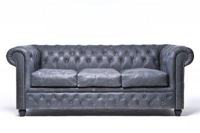 Chesterfield Vintage 3-sièges Noir | Garantie de 12 ans