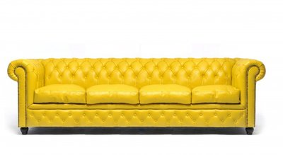 Chesterfield Original 4-places Jaune | Garantie de 12 ans