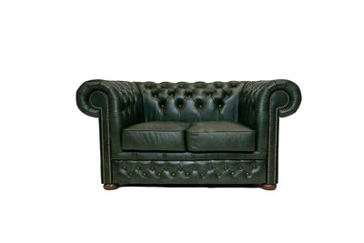 Chesterfield Canapé First Class  2-places Cloudy Vert | Garantie de 5 ans