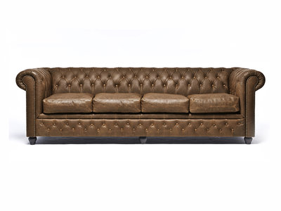 Chesterfield Canapé 4-places Vintage Alabama C1059 | Garantie de 12 ans