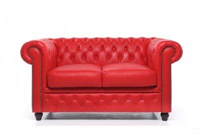 Chesterfield Origine 2-Places Canapé Rouge | Garantie de 12 ans