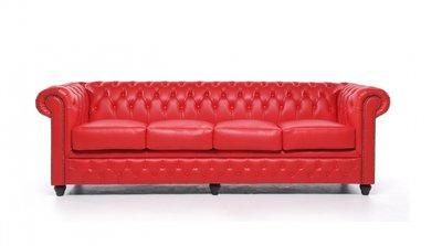 Chesterfield Origine 4-sièges Rouge | Garantie de 12 ans