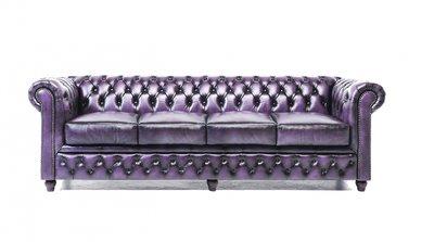 Chesterfield Origine 4-sièges Antique Violet | Garantie de 12 ans