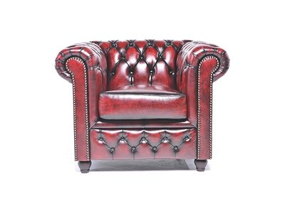 Chesterfield Original Fauteuil Antique Rouge | Garantie de 12 ans