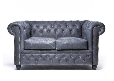 Chesterfield Vintage 2-sièges Noir | Garantie de 12 ans