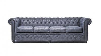 Chesterfield Vintage 4-sièges Noir | Garantie de 12 ans