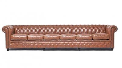 Chesterfield Vintage 6-sièges Mocha | Garantie de 12 ans