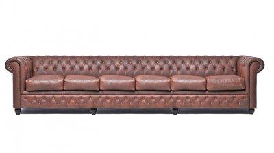 Chesterfield Vintage 6-sièges Brun | Garantie de 12 ans