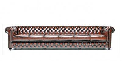 Chesterfield Origine 6-sièges Antique Brun | Garantie de 12 ans