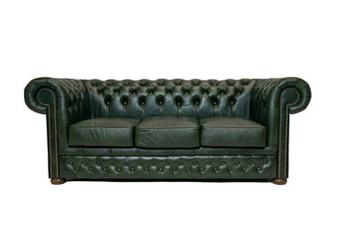 Chesterfield Canapé First Class 3-places Cloudy Vert | Garantie de 5 ans
