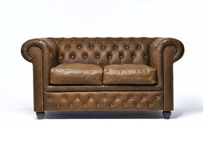 Chesterfield Canapé 2-places Vintage Alabama C1059 | Garantie de 12 ans
