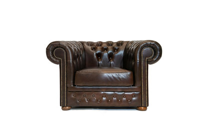 Chesterfield Fauteuil First Class Cloudy Brun Dark | Garantie de 12 ans
